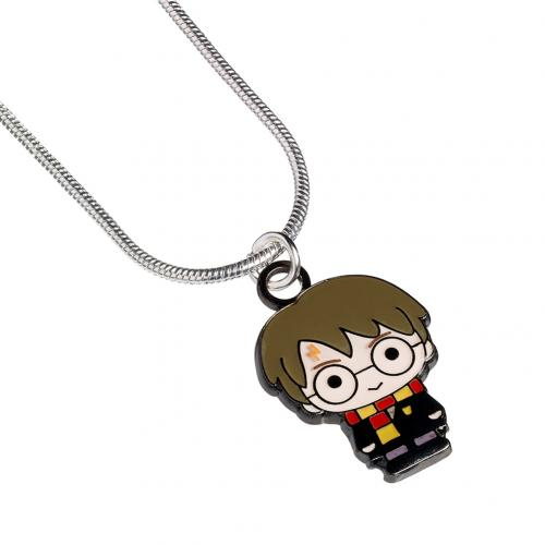 Harry Potter Silver Plated Necklace Chibi Harry