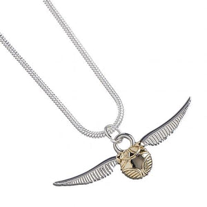 Harry Potter Silver Plated Necklace Golden Snitch