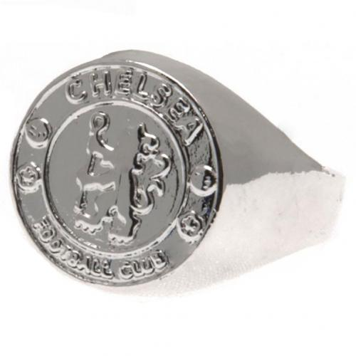 Chelsea FC Silver Plated Crest Ring Large