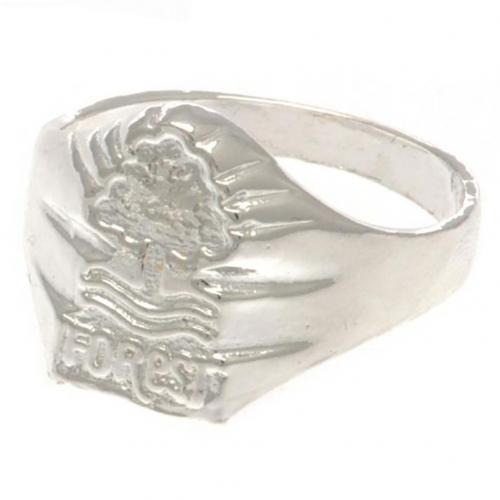 Nottingham Forest FC Silver Plated Crest Ring Medium