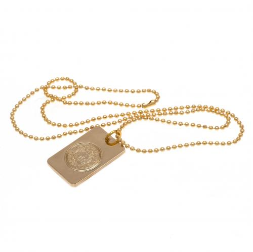 Leicester City FC Gold Plated Dog Tag & Chain