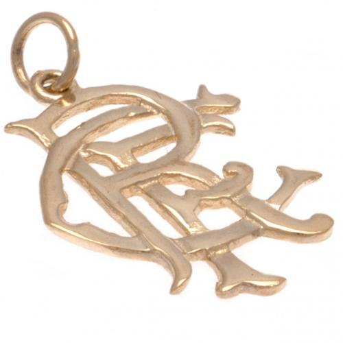Rangers FC 9ct Gold Pendant Small