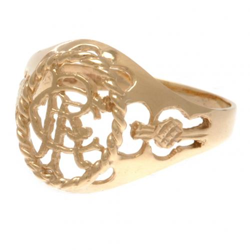 Rangers FC 9ct Gold Crest Ring Small