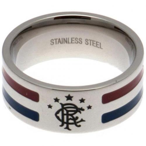 Rangers FC Colour Stripe Ring Large