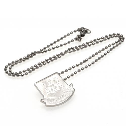 West Ham United FC Stainless Steel Pendant & Chain CT LG