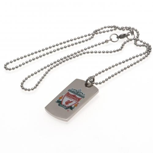 Liverpool FC Colour Crest Dog Tag & Chain