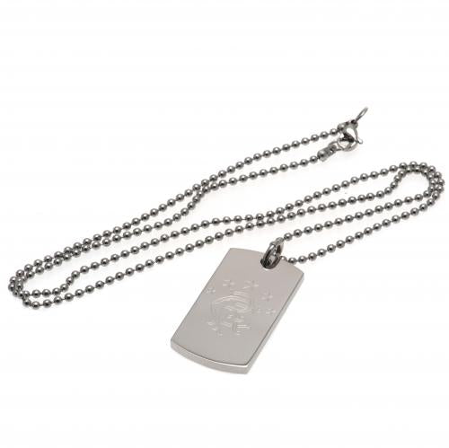 Rangers FC Engraved Dog Tag & Chain