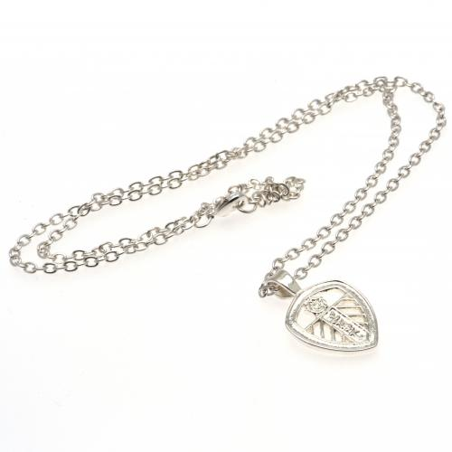 Leeds United FC Silver Plated Pendant & Chain