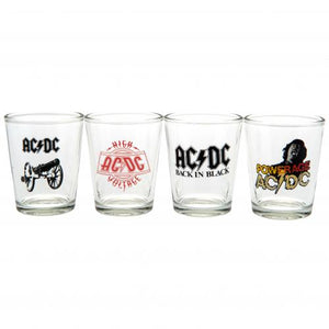 AC/DC 4pk Shot Glass Set