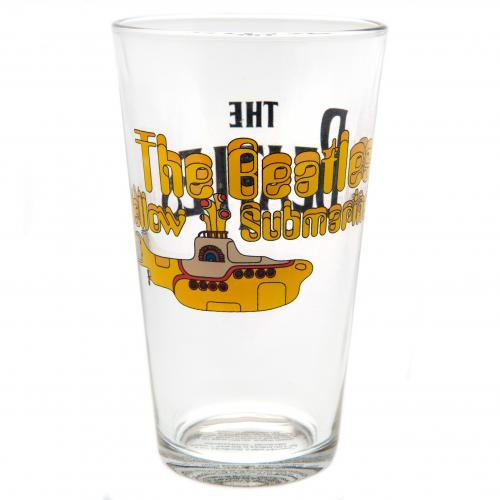 The Beatles Large Glass Yellow Submarine