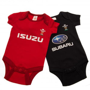 Wales RU 2 Pack Bodysuit 9/12 mths PS