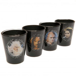 The Lord Of The Rings 4pk Premium Shot Glass Set