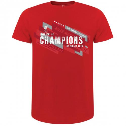 Liverpool FC Champions Of Europe T Shirt Mens L