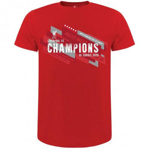 Liverpool FC Champions Of Europe T Shirt Mens XXL