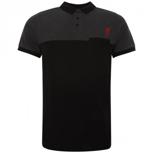 Liverpool F.C. Block Polo Shirt Mens Black M