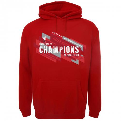 Liverpool FC Champions Of Europe Hoodie Mens L