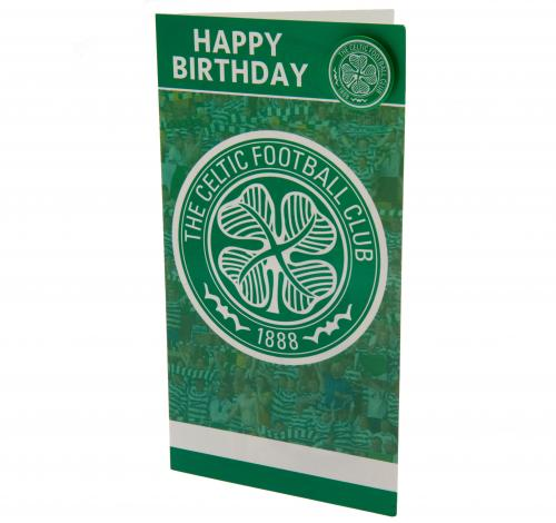 Celtic FC Birthday Card & Badge