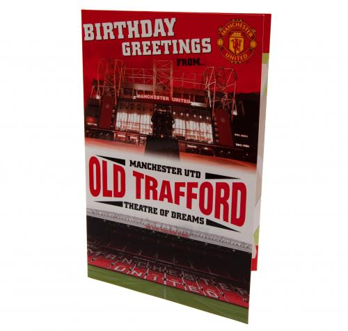 Manchester United FC Pop-Up Birthday Card