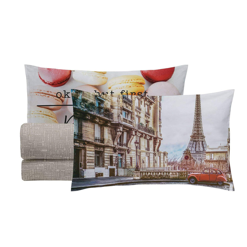 Completo Letto Digital Matrimoniale Paris - Amo La Casa Shop