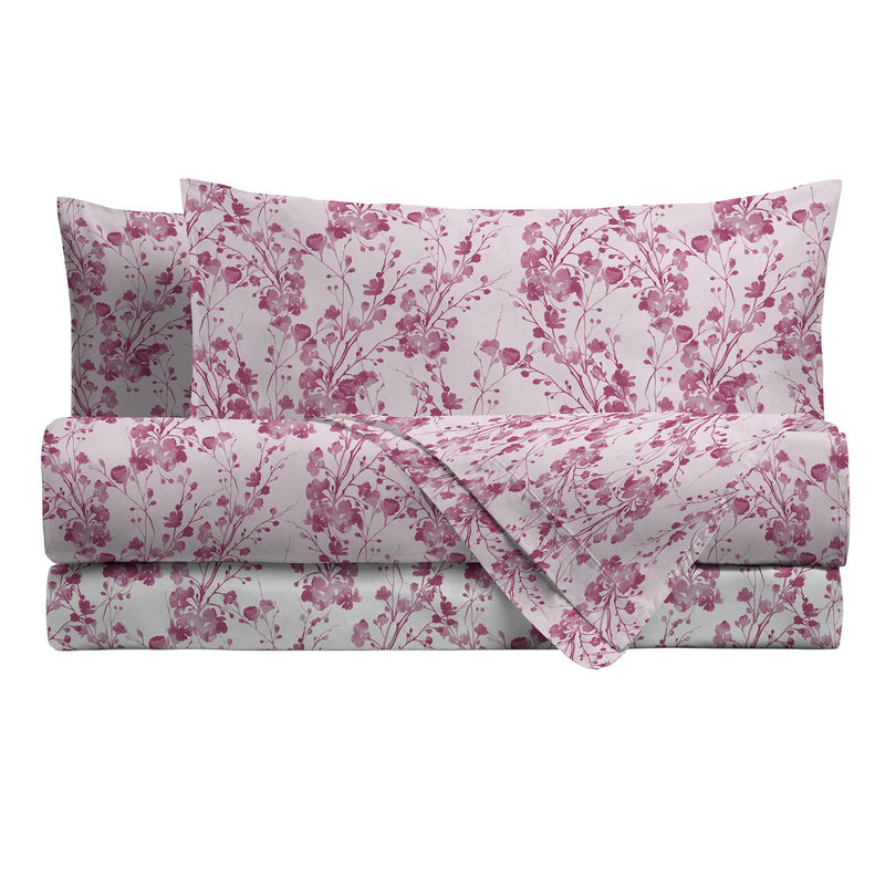 LUXURY COLLECTION DI MAESTRO Completo Letto Matrimoniale Tosca Rosa - Amo La Casa Shop