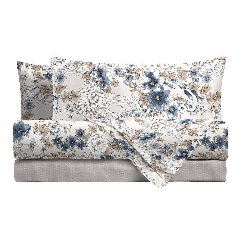 LUXURY COLLECTION DI MAESTRO Completo Letto Matrimoniale Emily Blu - Amo La Casa Shop