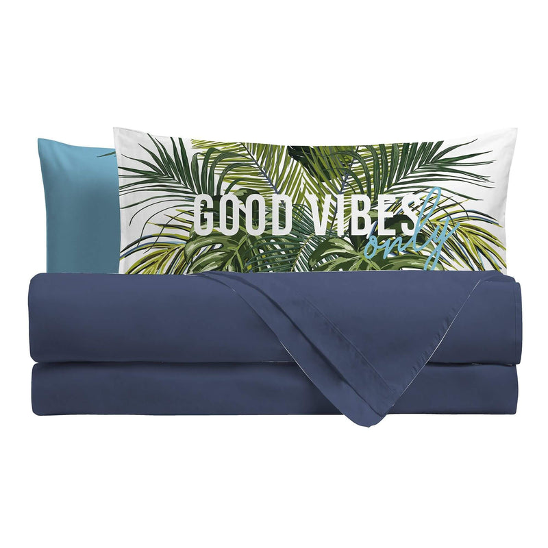 Completo Letto Digitale Piazza E Mezza Good Vibes - Amo La Casa Shop