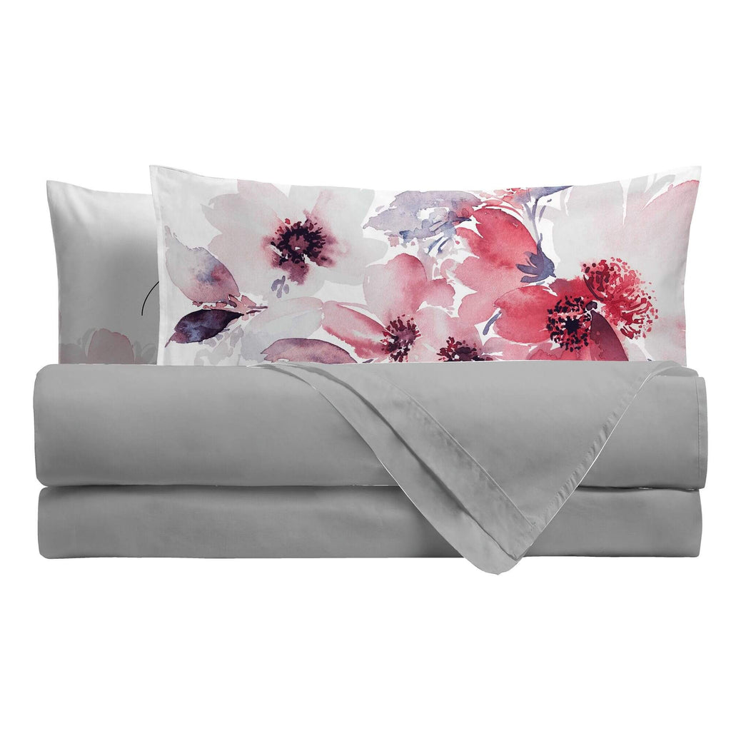 Completo Letto Digitale Singolo Watercolor Floral - Amo La Casa Shop