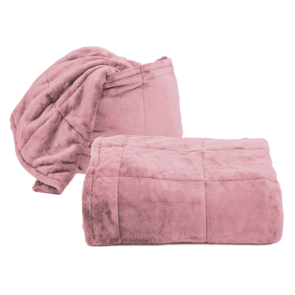 Coperta Cuscino Softly 130X180 Rosa