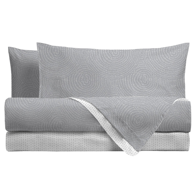 LUXURY COLLECTION DI MAESTRO Completo Letto Singolo Eliana Grigio - Amo La Casa Shop