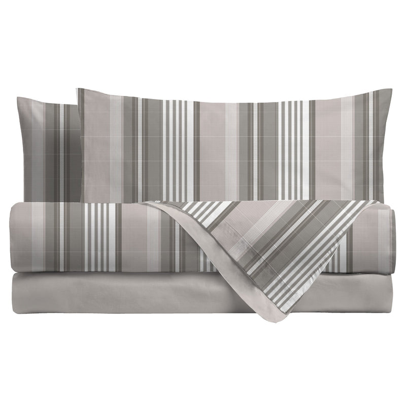 LUXURY COLLECTION DI MAESTRO Completo Letto Piazza E Mezza Camryn Taupe - Amo La Casa Shop
