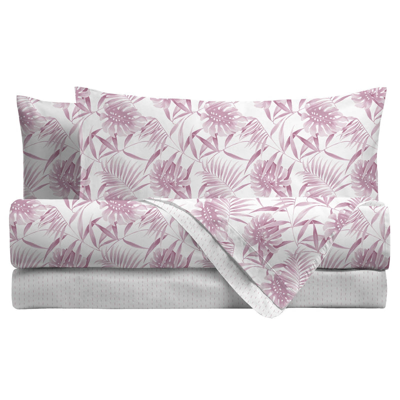 LUXURY COLLECTION DI MAESTRO Completo Letto Matrimoniale Giada Rosa - Amo La Casa Shop
