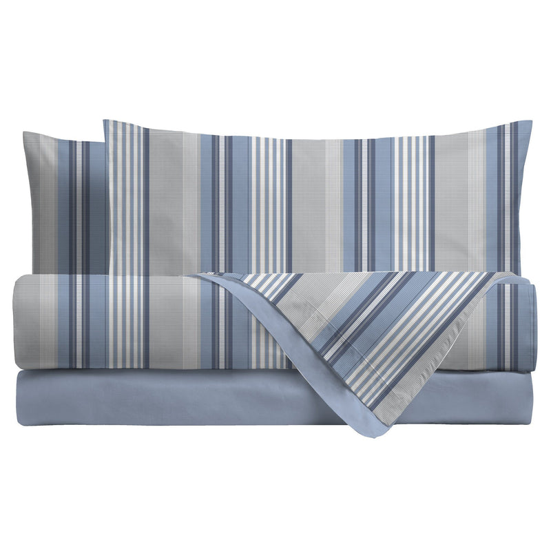 LUXURY COLLECTION DI MAESTRO Completo Letto Matrimoniale Camryn Blu - Amo La Casa Shop