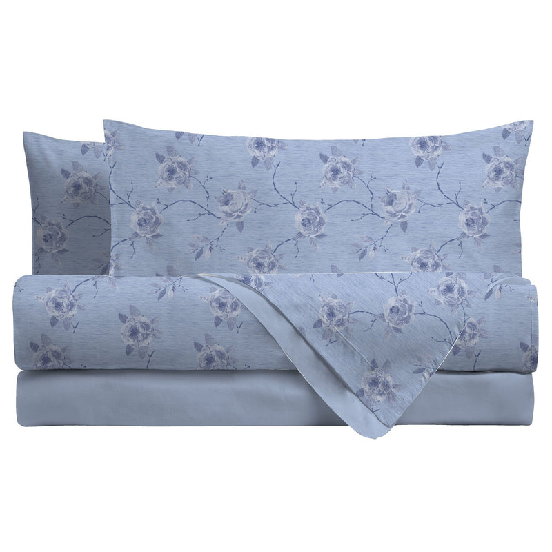 LUXURY COLLECTION DI MAESTRO Completo Letto Matrimoniale Rosita Azzurro - Amo La Casa Shop
