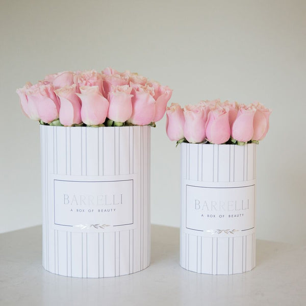 Valentine's Day - Pink Roses in Round Bouquet