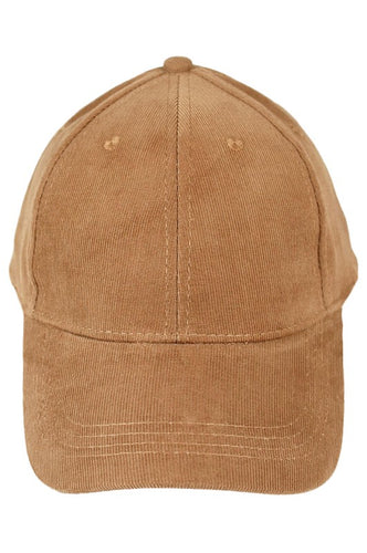 Nelson Corduroy Baseball Cap - Light Brown