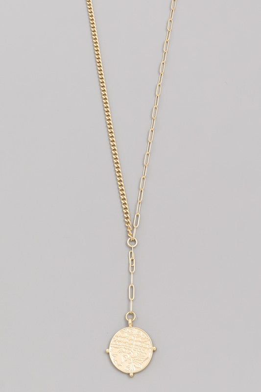 Seville Coin Pendant Necklace - Gold