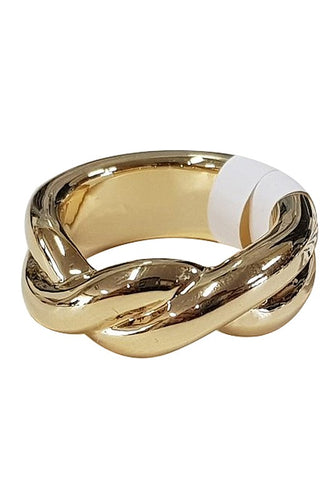 Victoria Woven Band Ring - Gold