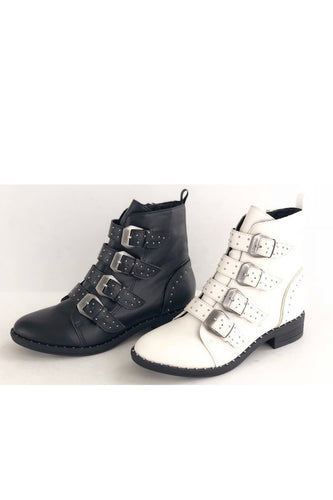 4 Buckle Ankle Boot