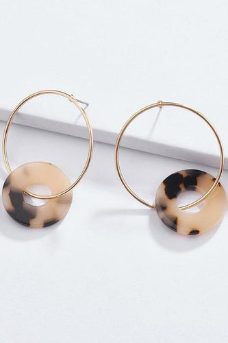 Cali Gold Circle Hoop + Tortoise Acetate Circle