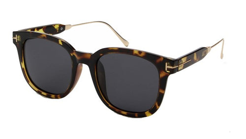Miranda Women Polarized Square Fashion Sunglasses - Tortoise