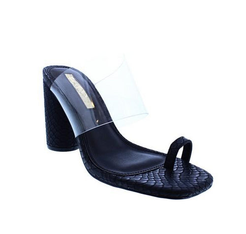 Clear Slip On High Heel Sandals