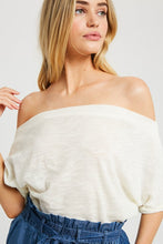 Tinley Short Sleeve Off the Shoulder Top - Ivory