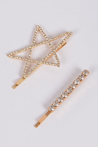 Stardust 2 Piece Rhinestone Hairpin Set