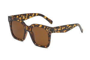 Tyra Square Flat Top Fashion Sunglasses - Tortoise