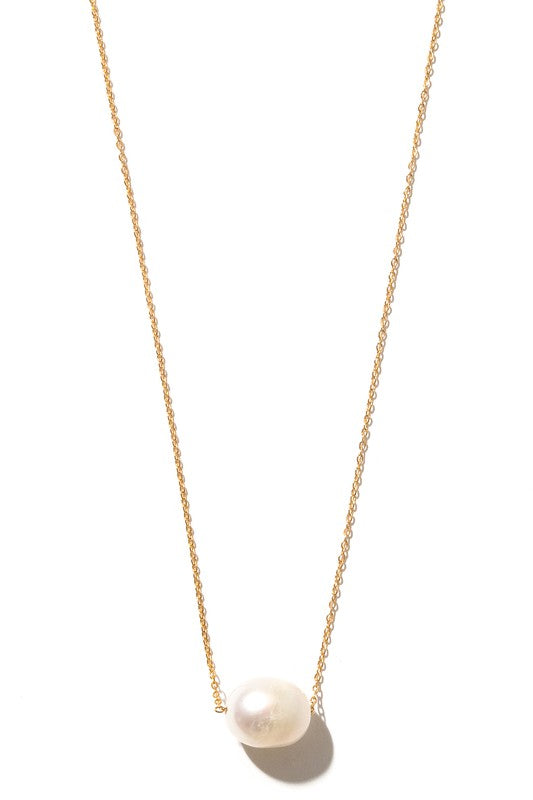 Isla Pearl Charm Chain Necklace - Gold