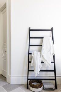 Lex Decorative Wood Ladder - Black- WAREHOUSE PICKUP ONLY