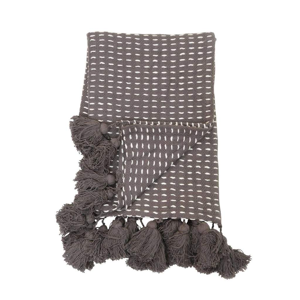 Loretta Hand Woven Throw - Gray