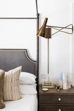 Load image into Gallery viewer, Axel Brass Swing Arm Wall Lamp