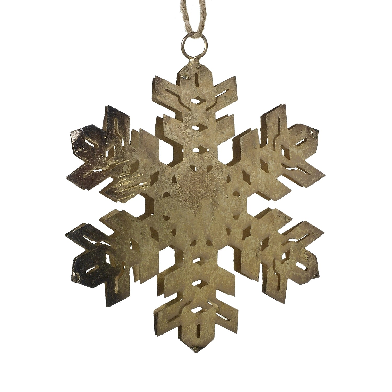 Let It Snow Metal Snowflake Ornament - 4