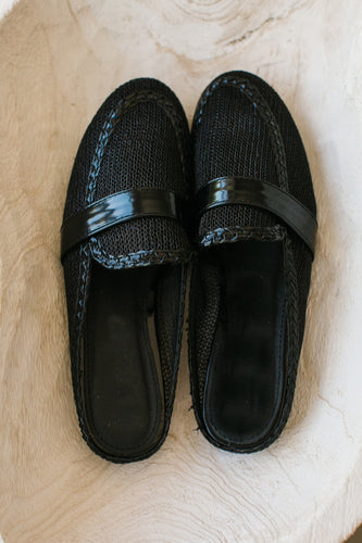 Black Breathable New Loafer Slip on Mule
